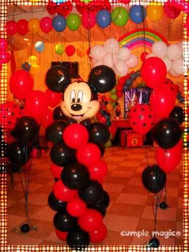 Columna Mickey En Globos Decoraciones Tematicas Cumpleanos En