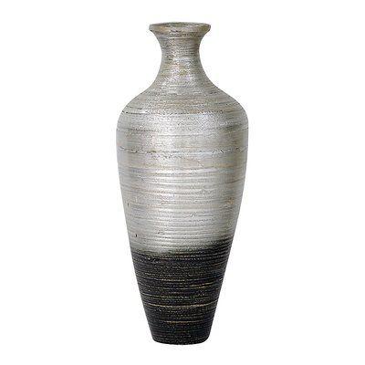 World Menagerie Tananger Floor Vase Wayfair In 2020 Floor Vase Bamboo Flooring Recycled Glass Vases
