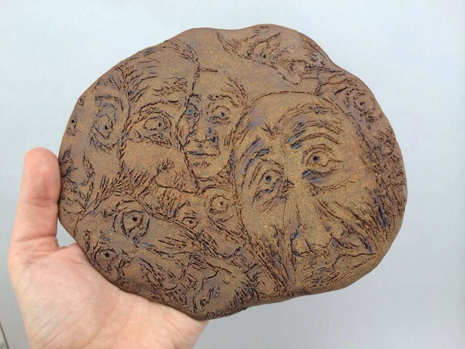 Faces Sculpture by StoneByAllison on Etsy https://www.etsy.com/listing/205572658/faces-sculpture