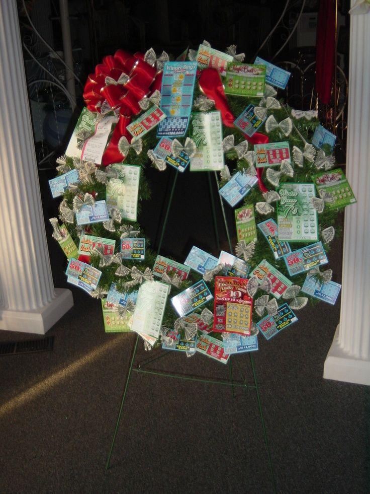 Money wreath ideas | Christmas Lottery/Money Wreath ...