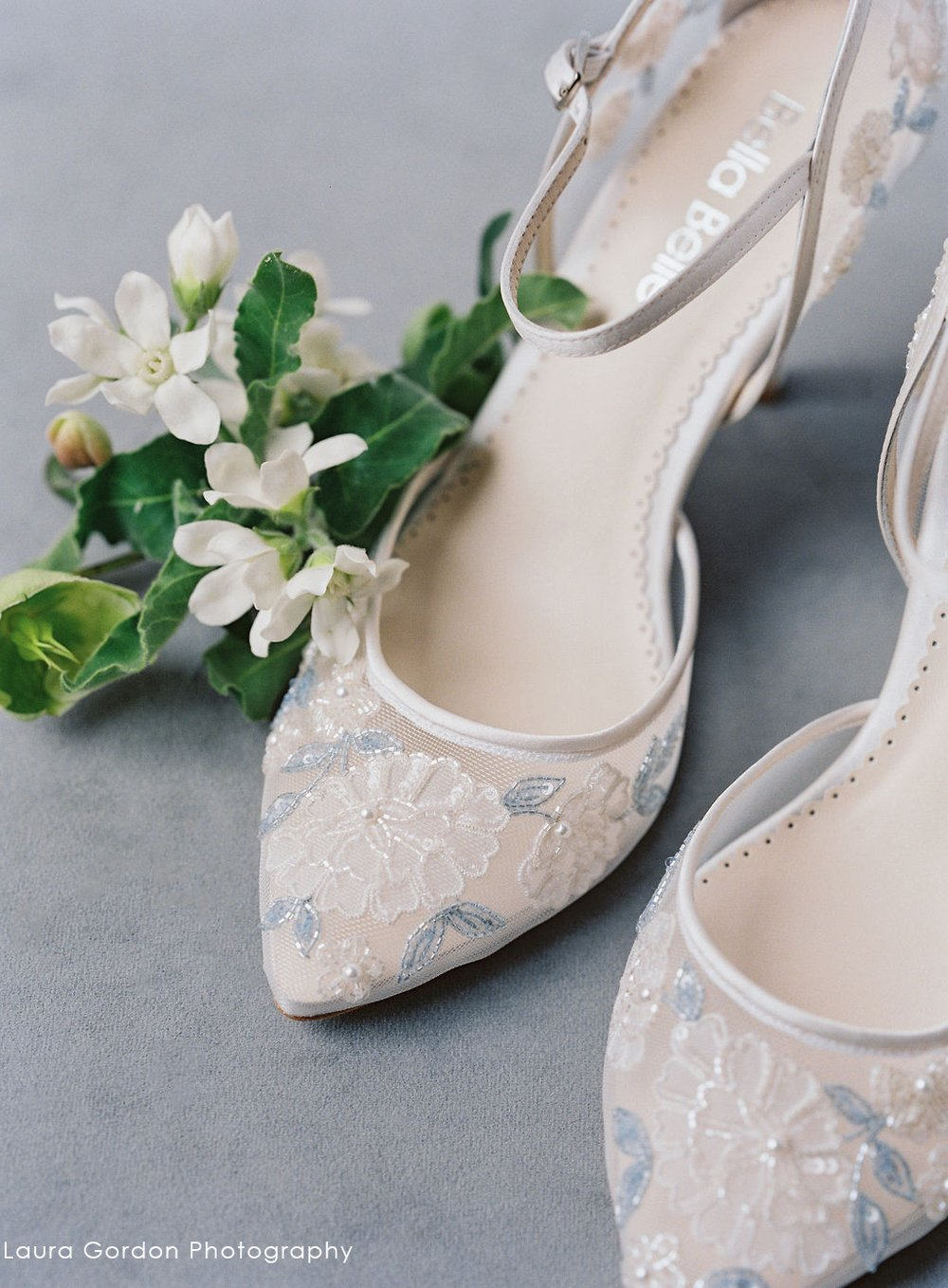 Viola Baby Blue Lace Low Heel Wedding Shoe Wedding Shoes Heels