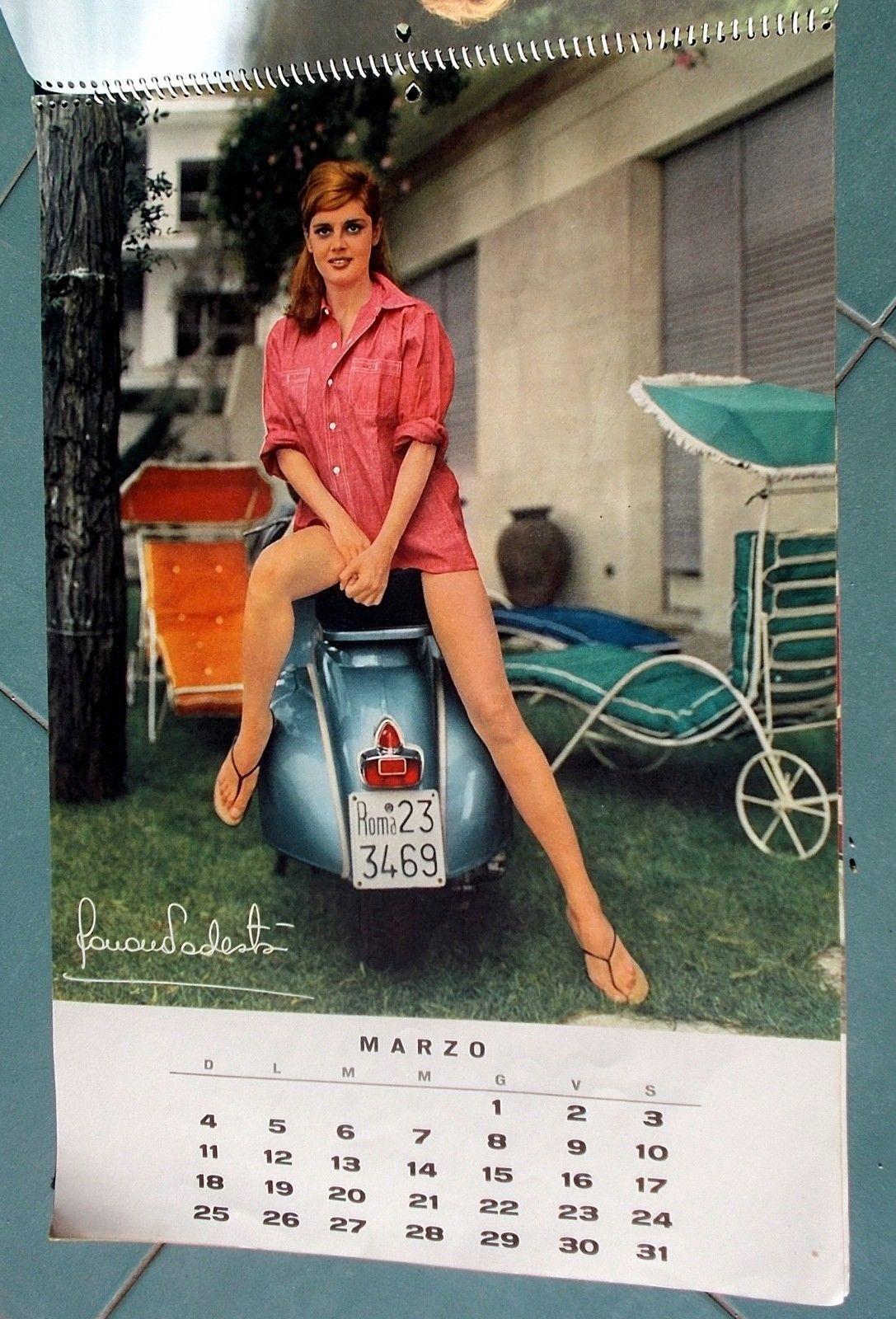 Giovanna D Anna Calendario.Dettagli Su Calendario Vespa Piaggio 1962 Orig Sylva