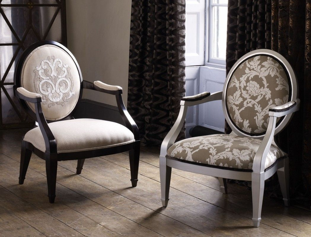 Neo Classic Oval back Arm Chair French theme Furniture