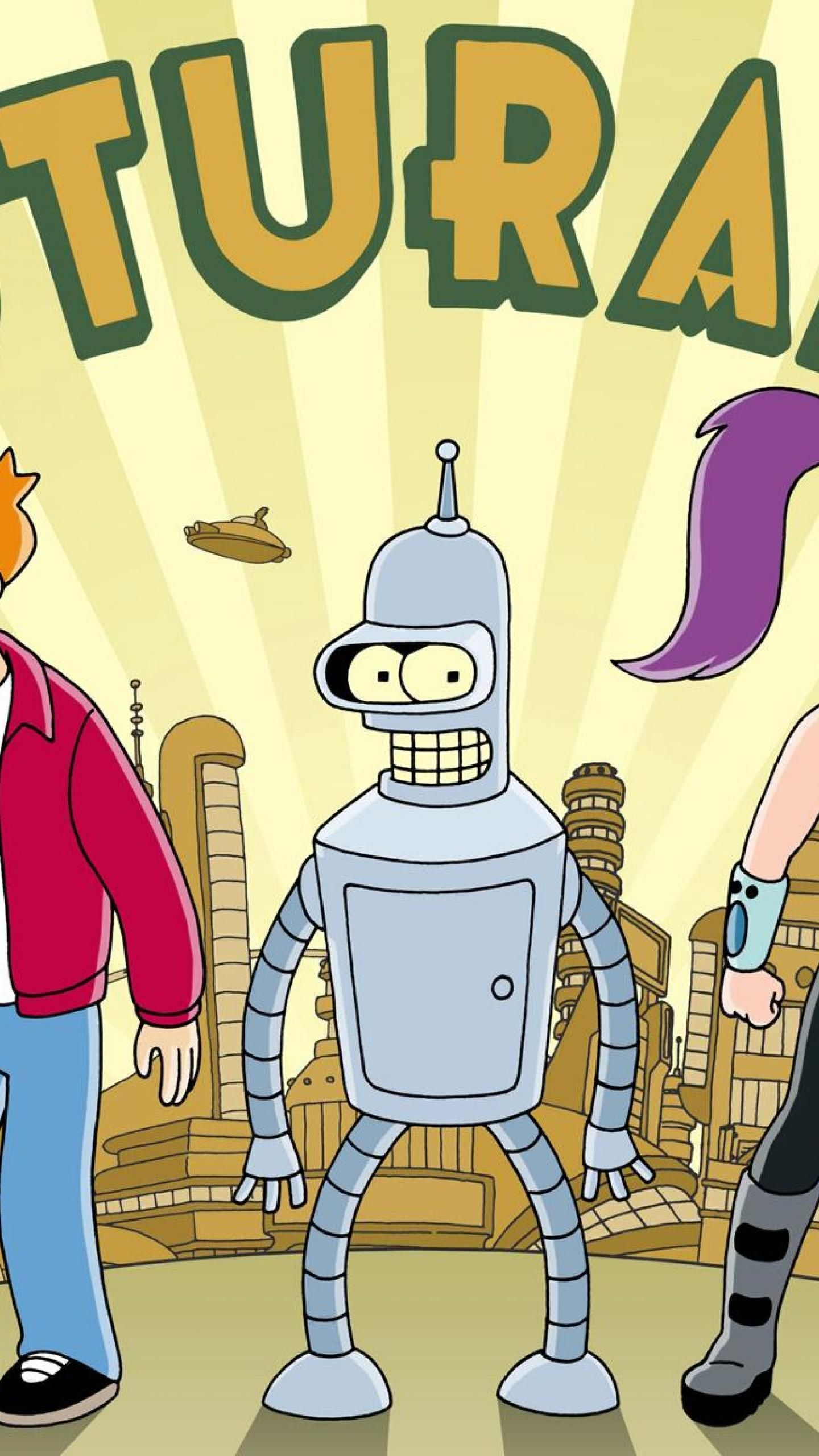 Wallpapers animation, Factory, line, Leela, Philip J Fry