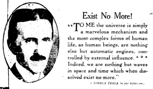 An Engineer's Aspect: Life After Death According to Nikola