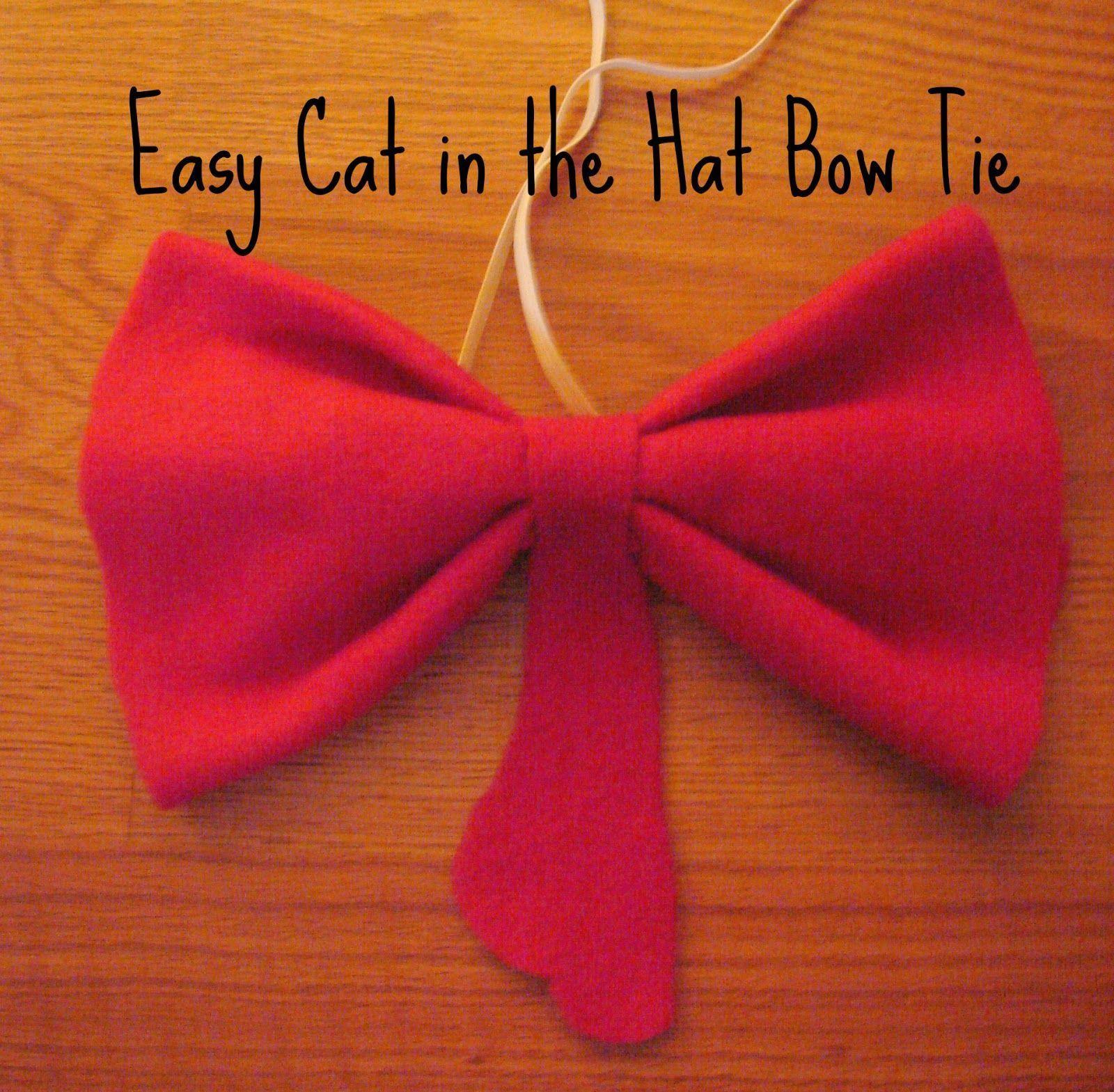 StoicTia.com // Cat in the hat bow tie DIY | cat in the hat costume