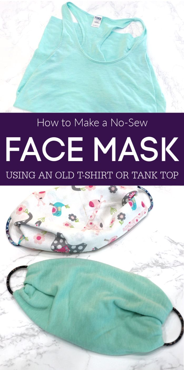 How to Make a No-Sew Face Mask Using a T-Shirt or Bandanna