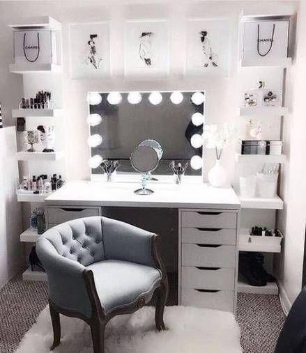 Makeup vanity ideas bedrooms desks 43 Ideas