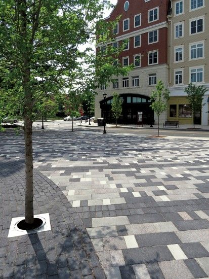Unilock - Storrs Centre in Mansfield CT with Series3000 pavers