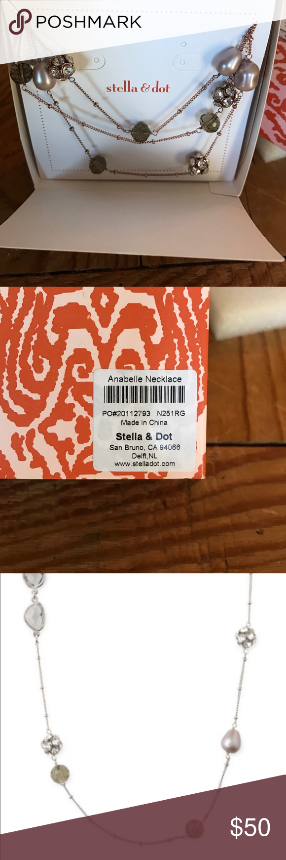 Stella & Dot Anabelle necklace. New in box. Gorgeous Stella & Dot Anabelle necklace. New in box! See photos for style! Rose gold metal. Stella & Dot Jewelry Necklaces