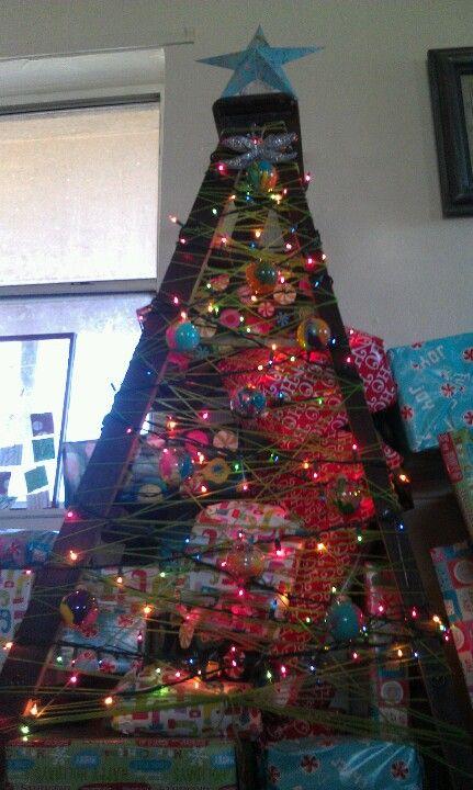 My ladder Christmas tree