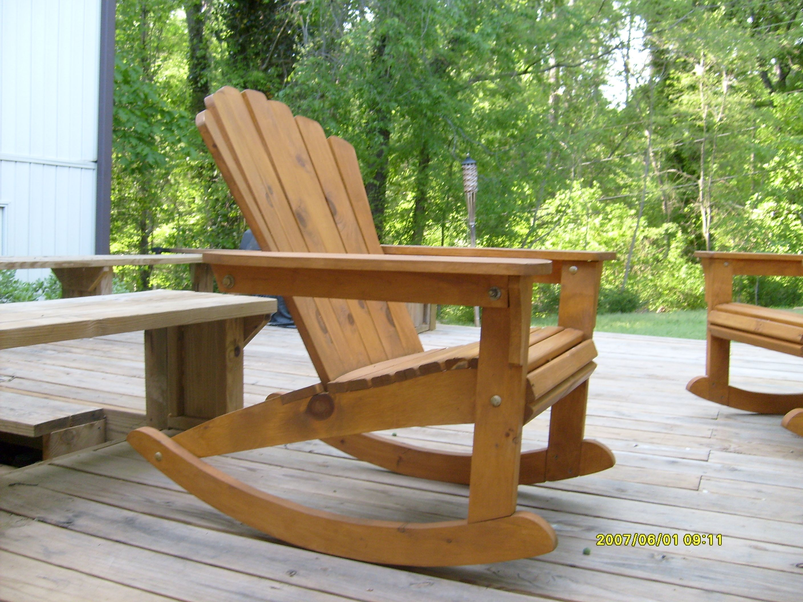 Build plans adirondack rocking chair diy small house plan for Adirondack house plans