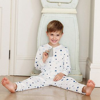 fad5d7217cc76e Star Henley Jersey Pyjamas | The White Company | boys clothes ...