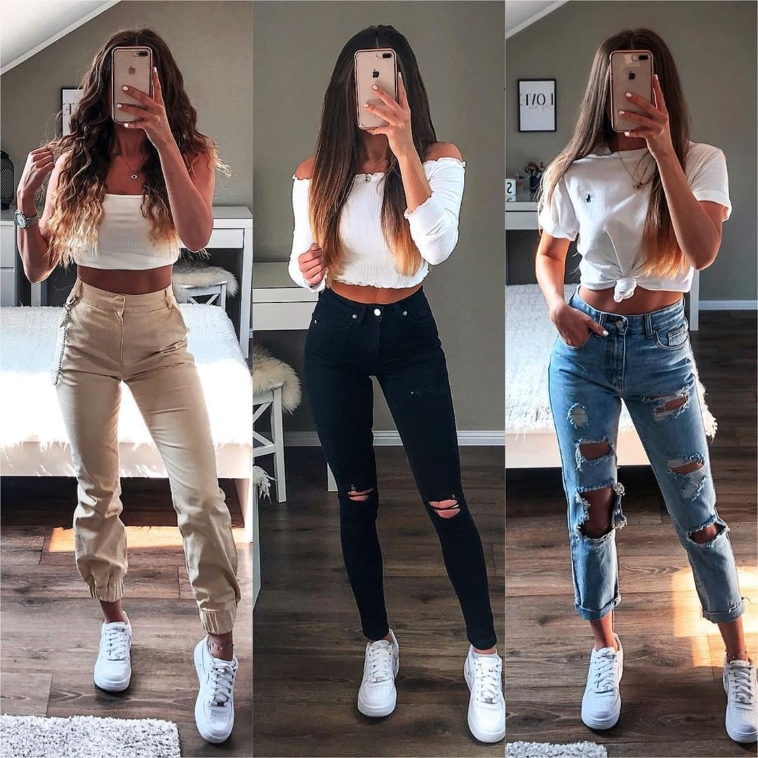 Hairsandstyles On Instagram Ootd Which Outfit Would You Add To Your Shopping List Credit Sophiegsa Hairs Moda De Ropa Ropa De Moda Ropa Juvenil De Moda