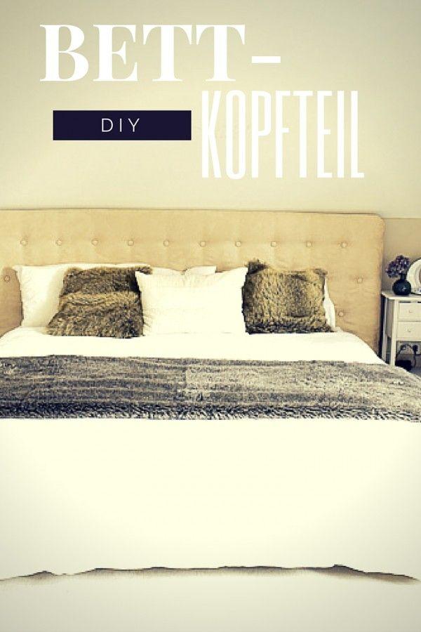 Aufgemöbelt - DIY: Ein Kopfteil fürs Bett | Wohnen: DIY Ideen ...