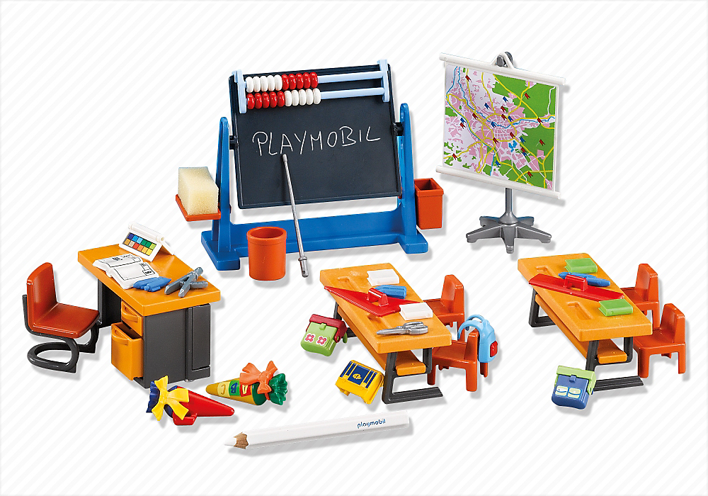 Classe d cole 7486 playmobil france jouets n for Salle a manger playmobil city life