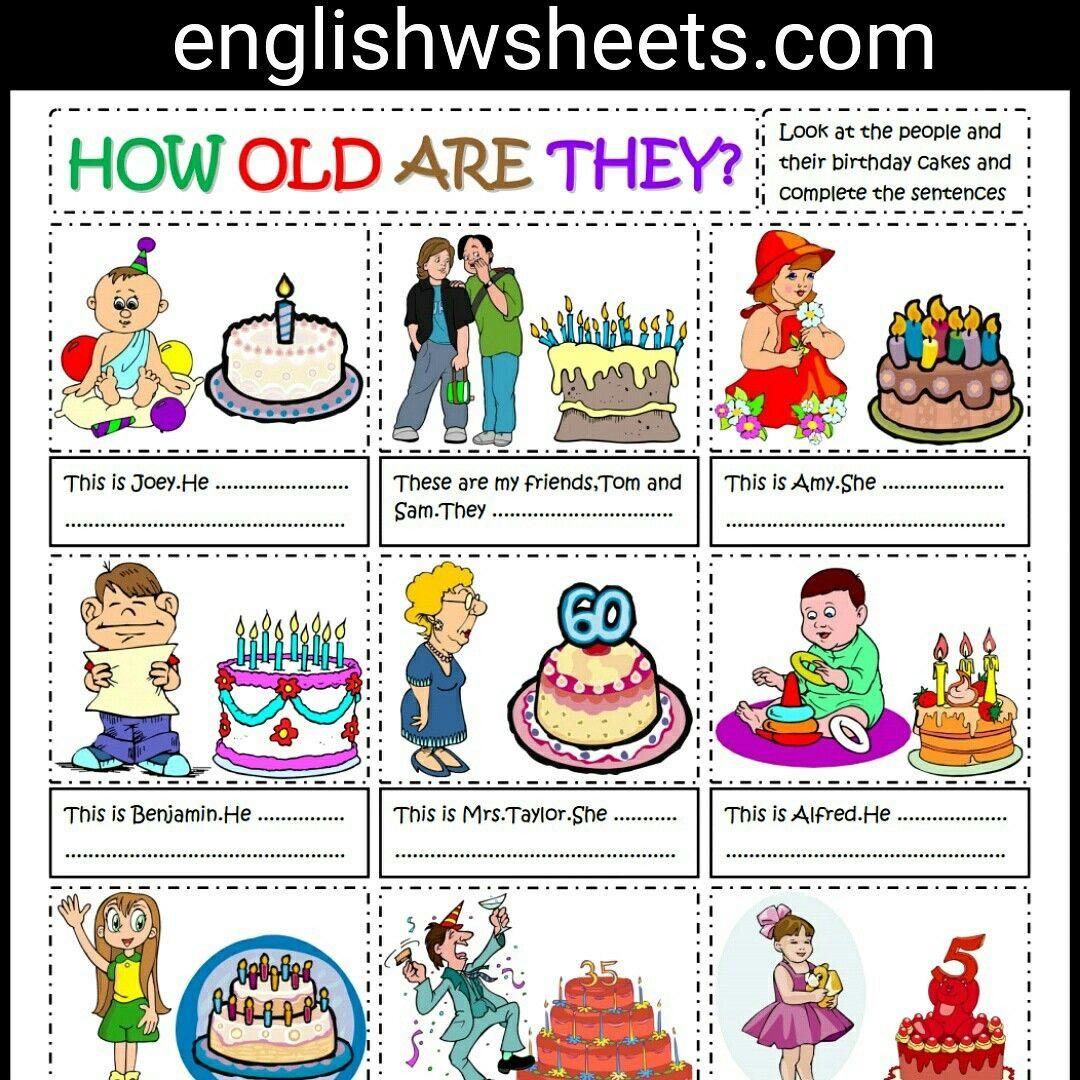 Talking About Age Esl Printable Worksheet For Kids Talking Age Telling Esl Printable