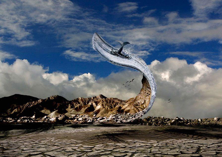 Ryszard Horowitz Photocomposer - Digital Portfolio Peeling Desert '03