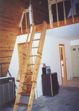 Loft Ladder Down Image Cabin In 2019 House Ladder
