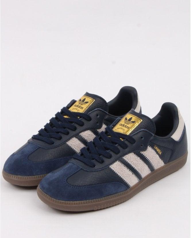 Adidas Samba Og Ft Trainers Navy/Grey