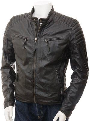 52ad1f612 Men's Black Leather Biker Jacket: Maikop | Leather Jackets | Black ...
