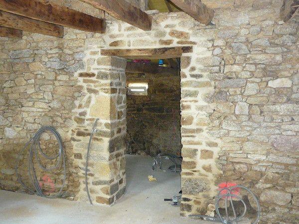 ouverture dans un mur de pierres apres pinterest la chaux chaux et ouverture. Black Bedroom Furniture Sets. Home Design Ideas