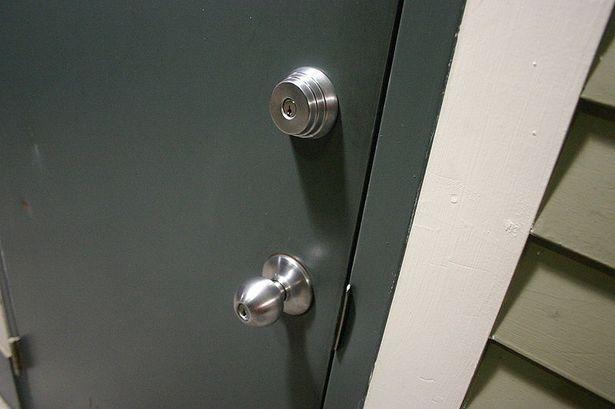 How To Install A Deadbolt Lock On A Door Without Cutouts Deadbolt Metal Door Steel Doors