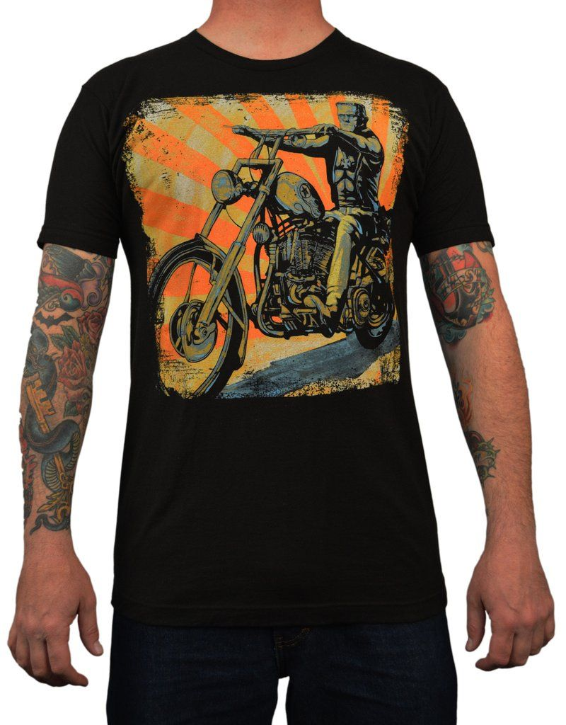 e4a56ae98823 Men s Eerie Rider by Mike Bell Easy Rider Frankenstein Chopper T Shirt –  moodswingsonthenet