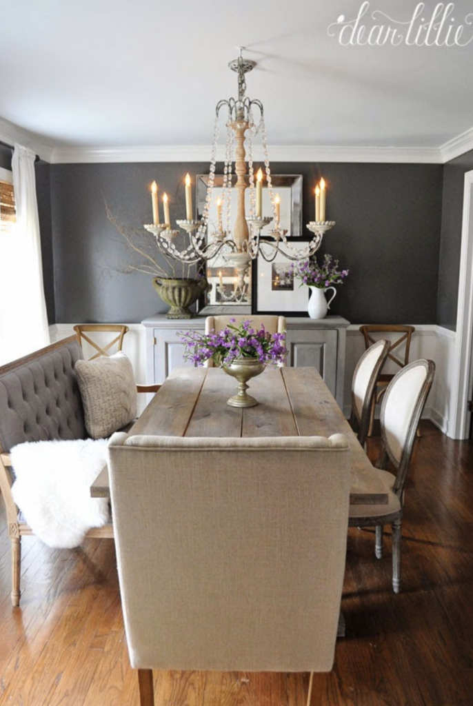 The 15 Most Beautiful Dining Rooms On Pinterest Sanctuary Home Decor Dining Room Small Dining Room Makeover Farmhouse Dining Room