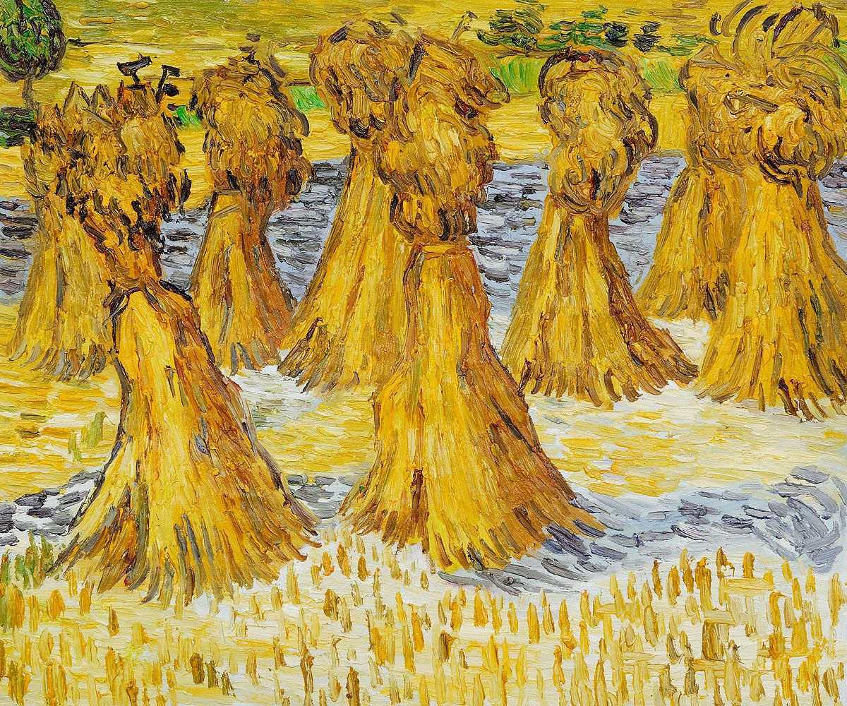 sheaves of wheat josephs dream van goghs
