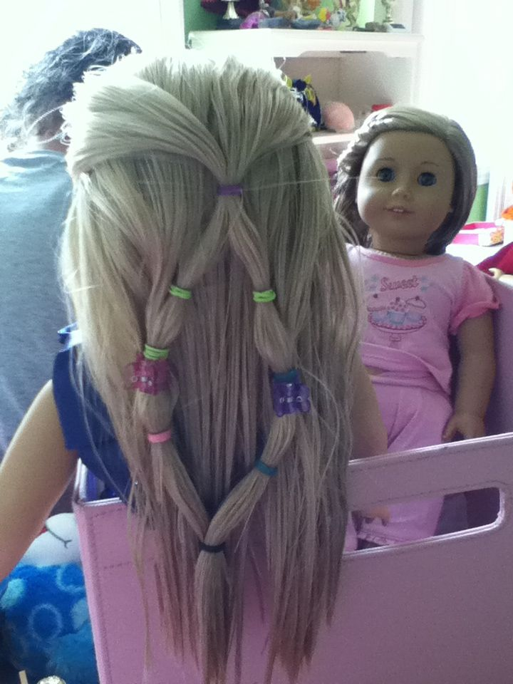Fun Cute Hairstyle For Your American Girl Doll And A Little
