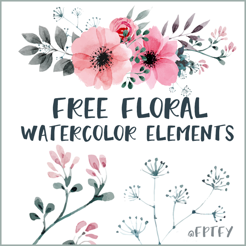 Free Watercolor Floral Elements Free watercolor flowers