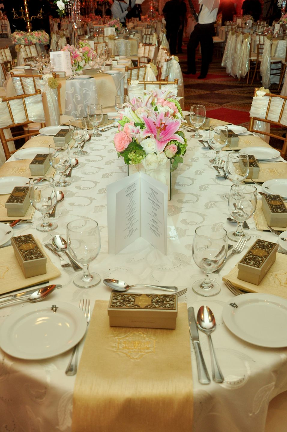 Decorated Tables The Beautifully Decorated Tables At The Wedding Of Puthula And