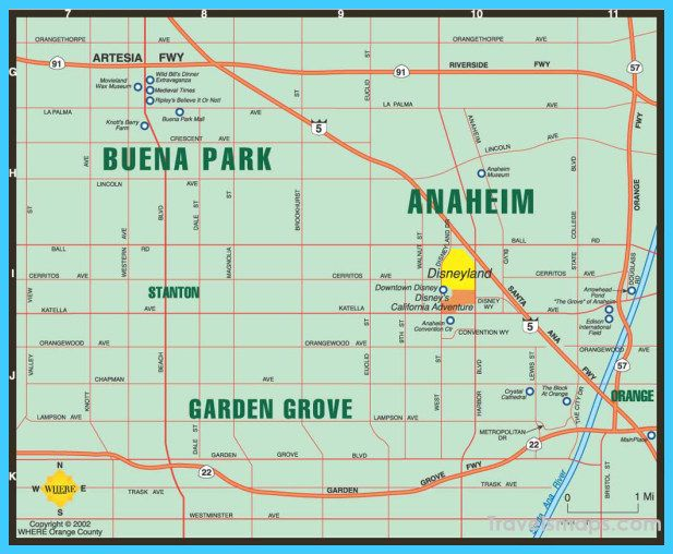 Orange Grove California Map.Awesome Map Of Anaheim California Anaheim California In 2019
