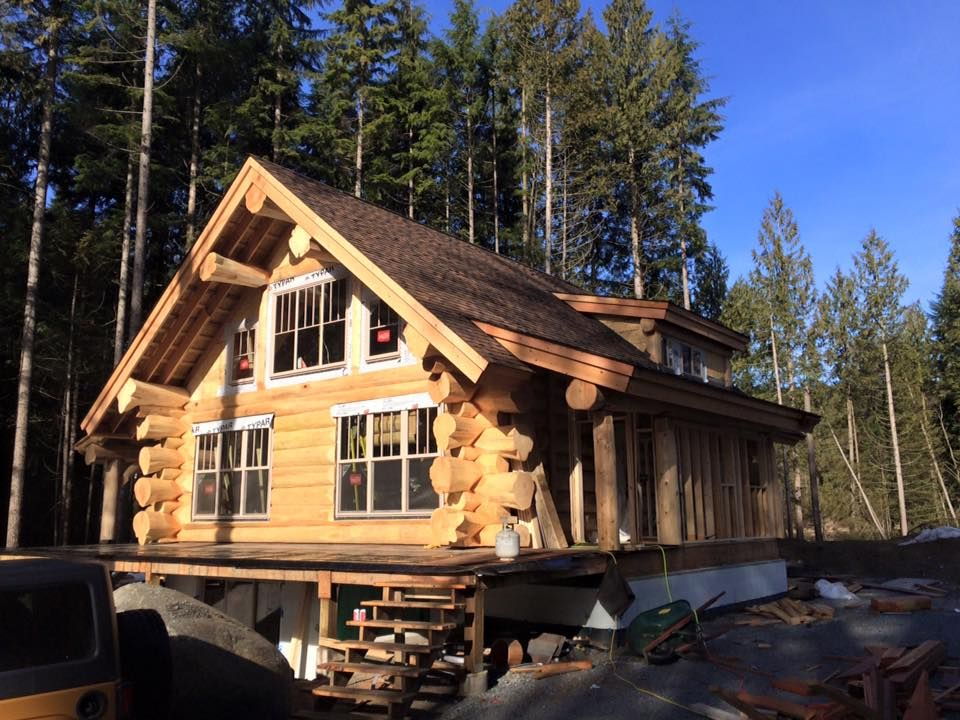 A Few Progress Photos Of The Log Home Project We Did In Mission