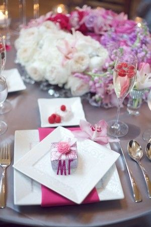 Sophisticated Elegance with Pink and Purple and Gold ... |Pink And Purple Table Setting