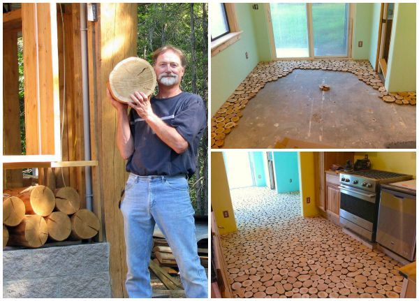 incredible hardwood floor bedroom   They Laid Wooden Discs On the Floor! The Result? An ...