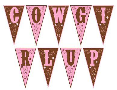 Free Cowgirl Party Printables #freeprintables #cowgirlparty #banner