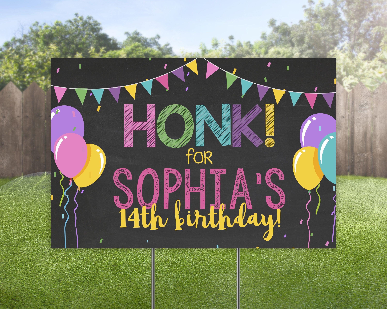 3rd birthday idea 3rd birthday backdrop 2nd 3rd Birthday Yard Sign Happy birthday yard sign DIGITAL 3rd birthday decoration