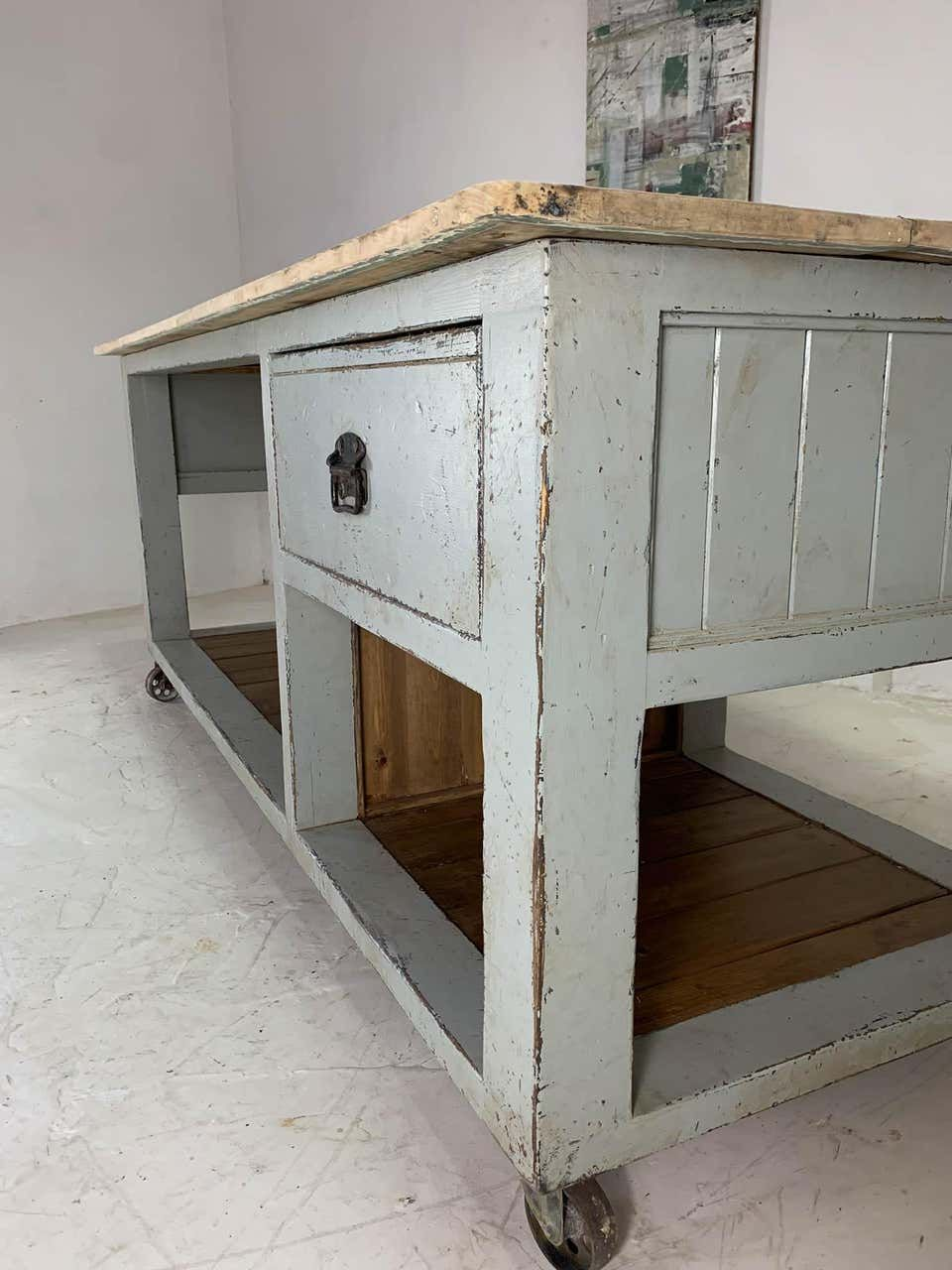 For Sale On 1stdibs Fabulous Kitchen Island Based On Original Designs By Renowned Baker S Tables M Antique Kitchen Island Bakers Table Painted Kitchen Island