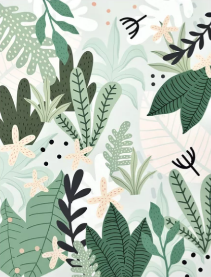Into the jungle by Gale Switzer #pastelpattern