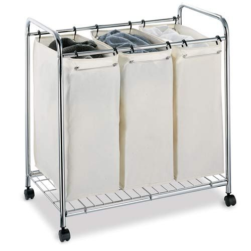 Organize It All Three Section Laundry Sorter Bellacor Number 328510 Laundry Sorter Laundry Hamper With Wheels Laundry Hamper