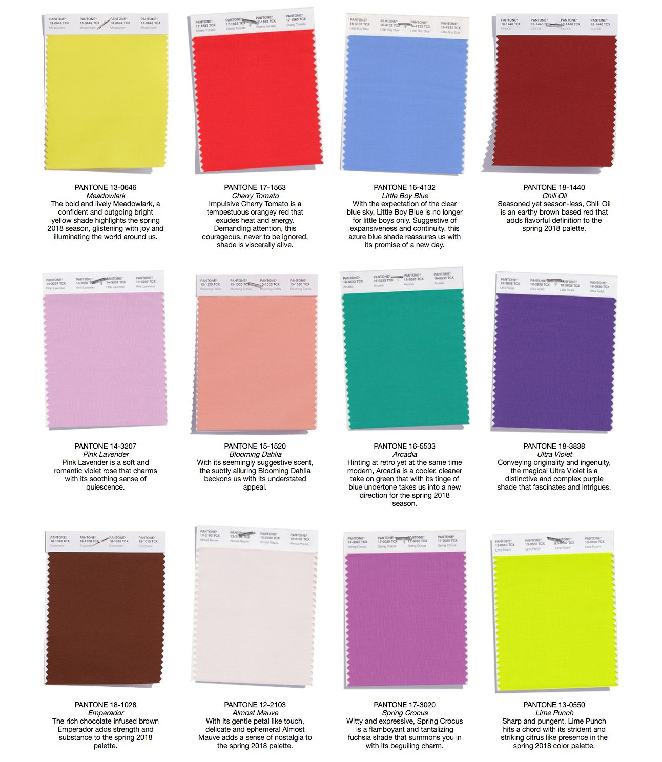100+ Pantone Summer 2015 Color Inspiration