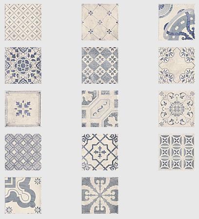 Parisian Chic Decor Mix Wall Tile 20x20cm Tons Of Tiles