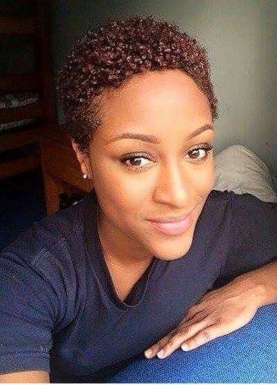 Natural Hair Mag Short Textured Curly Colored Style Short