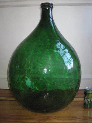 large antique wine bottles
