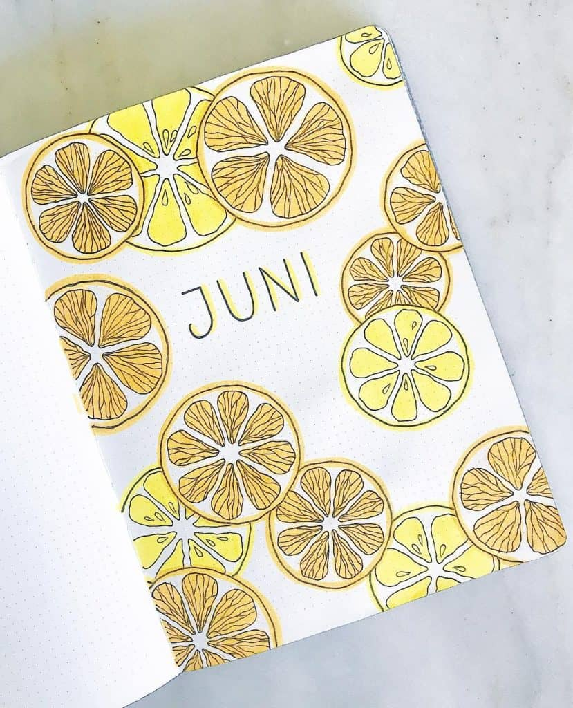 40 juicy Citrus Bullet Journal Theme Ideas | My Inner Creative