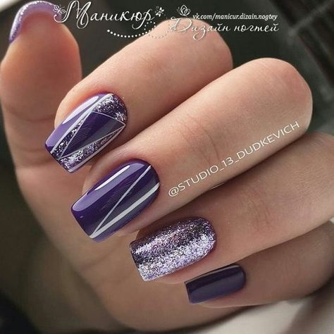 Fashion Design Ideas Bling Nails Fancy Nice Funky Nail Art Purple Trendy Simple