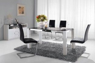 Azzurro High Gloss White Dining Table 1 5m With Images White