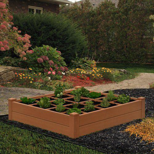 Composite Garden 122cm X Plastic Raised Flower Bed